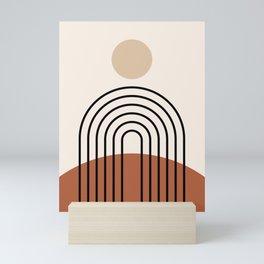 Abstraction_SUN_LINE_BOHEMIAN_LANDSCAPE_POP_ART_1129B Mini Art Print