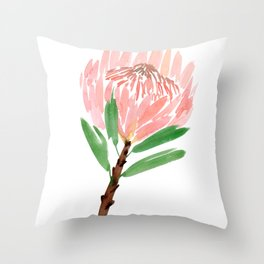 King Protea in Blush Pink Throw Pillow