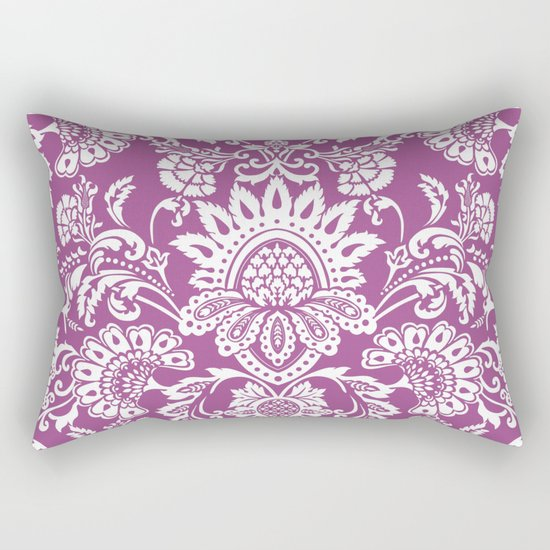 Damask in cyclamen Rectangular Pillow