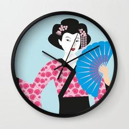 Geisha #2 Wall Clock