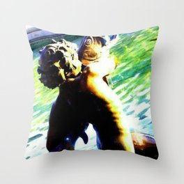 Fountain of the Centaurs at Missouri Capitol Throw Pillow