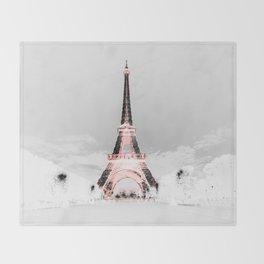 pariS Black & White + Pink Throw Blanket