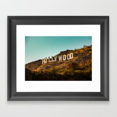 Hollywood Sign Framed Art Print