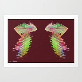 Frakblot Conduit Art Print