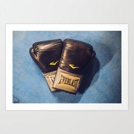 Boxing Love Art Print