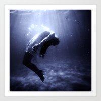 underwater Art Prints featuring Underwater by EclipseLio