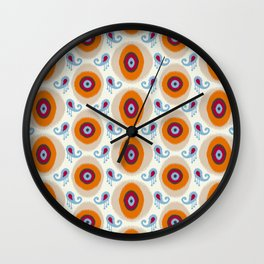 Ikat Medallion Wall Clock