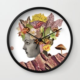 She Moves Mountains - White/Plain Background Wall Clock