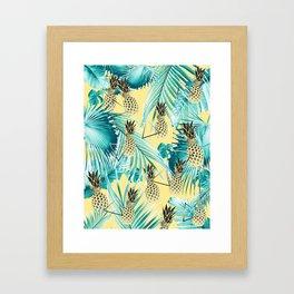 Tropical Pineapple Jungle Geo #1 #tropical #summer #decor #art #society6 Framed Art Print
