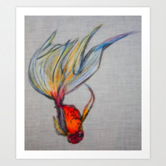 Goldfish Pond (close up #7) Art Print