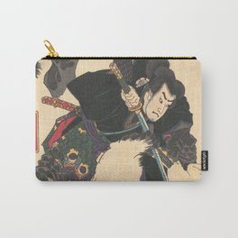 The Warrior Slaying the Giant White Hihi by Utagawa Yoshitora Carry-All Pouch