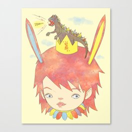 CROWN NEST - GOZILLA KING 고질라킹 Canvas Print