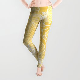 Sunshine Yellow Poppies Leggings