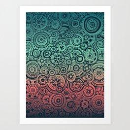 Round Rumination Art Print