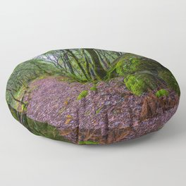 The road to nature Floor Pillow