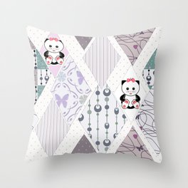The pattern for children . Kittens . Throw Pillow