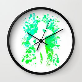 Anime Paint Splatter Inspired Shirt Wall Clock
