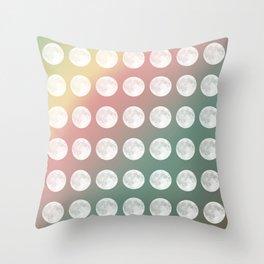 Rainbow Moon Throw Pillow
