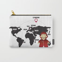 La casa de Papel Money Heist Map Carry-All Pouch
