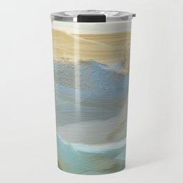 Southwestern Blue, Bronze, Abstract Landscape Painting Travel Mug