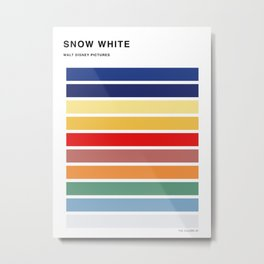 The colors of - Snow white Metal Print