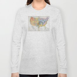 1874 Geological Map of the United States Long Sleeve T-shirt