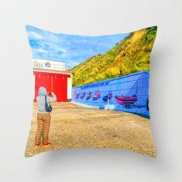 Seaside Photography, Sheringham, Norfolk, U.K Throw Pillow