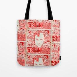 Station! Fantastic Cinematic Album Cover Tote Bag