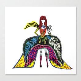 Wacky pattern fashion nation Canvas Print