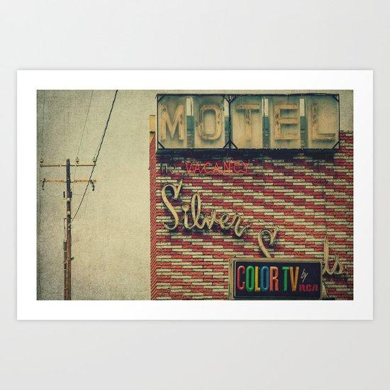 Silver Sands Motel Art Print