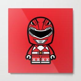 Power Chibi Red Ranger Metal Print