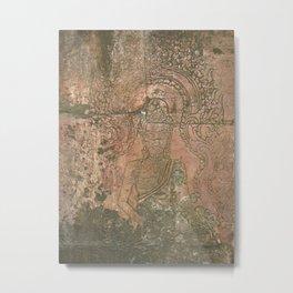 Faded Buddha Metal Print