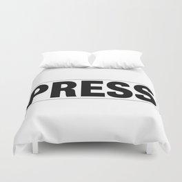 Press Pass Duvet Cover