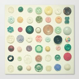 The Button Collection Canvas Print