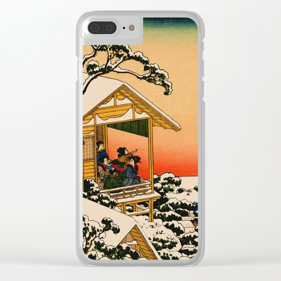 Snow at Koishikawa - Vintage Japanese Art Clear iPhone Case