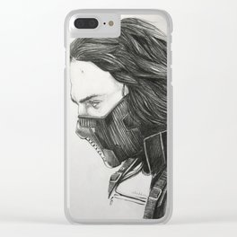 The Winter Soldier (sketch) Clear iPhone Case