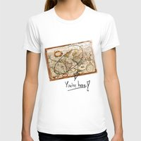 vintage map T-shirts featuring Vintage Map by Diego Tirigall