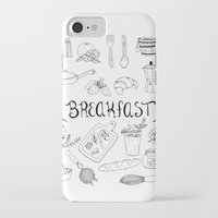 breakfast iPhone & iPod Cases featuring Breakfast by Brooke Weeber