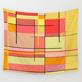 color and lines Wall Tapestry