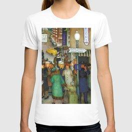 Coit Tower San Francisco City Scene Mural T-shirt