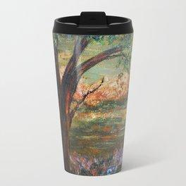 Serene Meadow, Impressionism Landscape Travel Mug