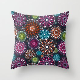 Mandala Dots Throw Pillow