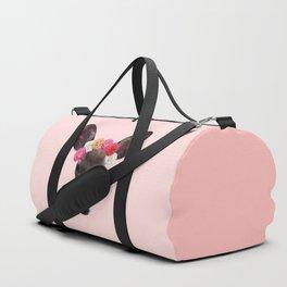 Decorated Deer | Peach Duffle Bag
