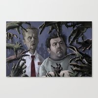 shaun of the dead Canvas Prints featuring Shaun of the Dead Caricature by Richtoon