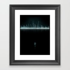 TRON CITY Framed Art Print