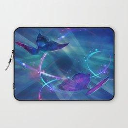 Butterflies and Light Swirls Abstract Laptop Sleeve