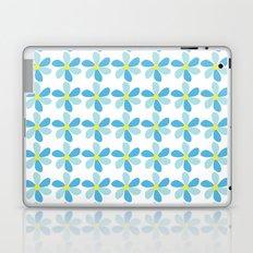 Blue Flower Pattern Laptop & iPad Skin