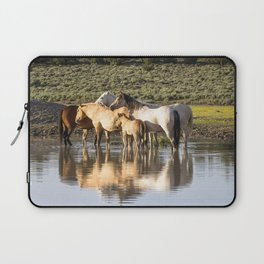 Reflection of a Mustang Family Laptop Sleeve