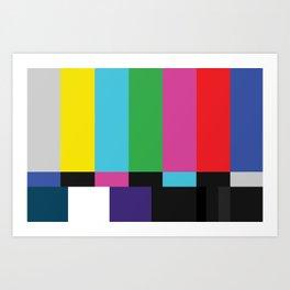 Colorbars Art Print