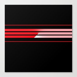 Team Colors 5...red with red Canvas Print